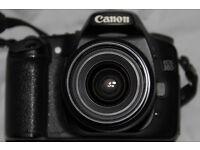 Canon 30D Digital SLR Camera + Lens and bits.