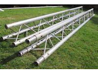 Aluminium triangular truss. (Trilite) 6 Metres in length