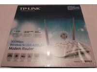 TP Link Wireless N 300 Mbps Modem Router & USB WORKS WITH BT TALK TALK SKY EE VIRGIN PLUSNET TESCO