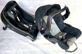 Graco Infant Car Seat with Base, Canopy & Baby Head Support