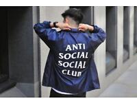 Anti social social club coach jacket