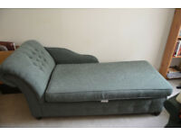Chaise lounge sofa bed and arm chair.