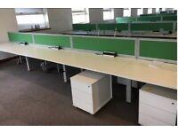office workstation desk table 6 position Senator