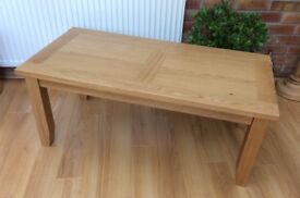 Solid Oak Coffee Table, Fully Boxed.