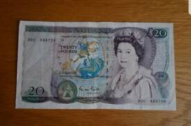 Wanted , old £20 note