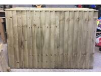 Wooden/ Timber Straight Top Close Board Heavy Duty Fence Panels 🌲