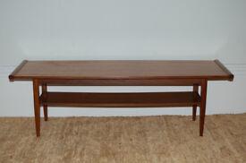 Mid-Century retro coffee table with shelf
