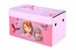 NEW Disney Sofia the First Oversized Soft Collapsible Storage Toy Trunk