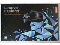 Lenovo Exp[orer windows mixed reality headset with motion controllers BNIB seals unbroken