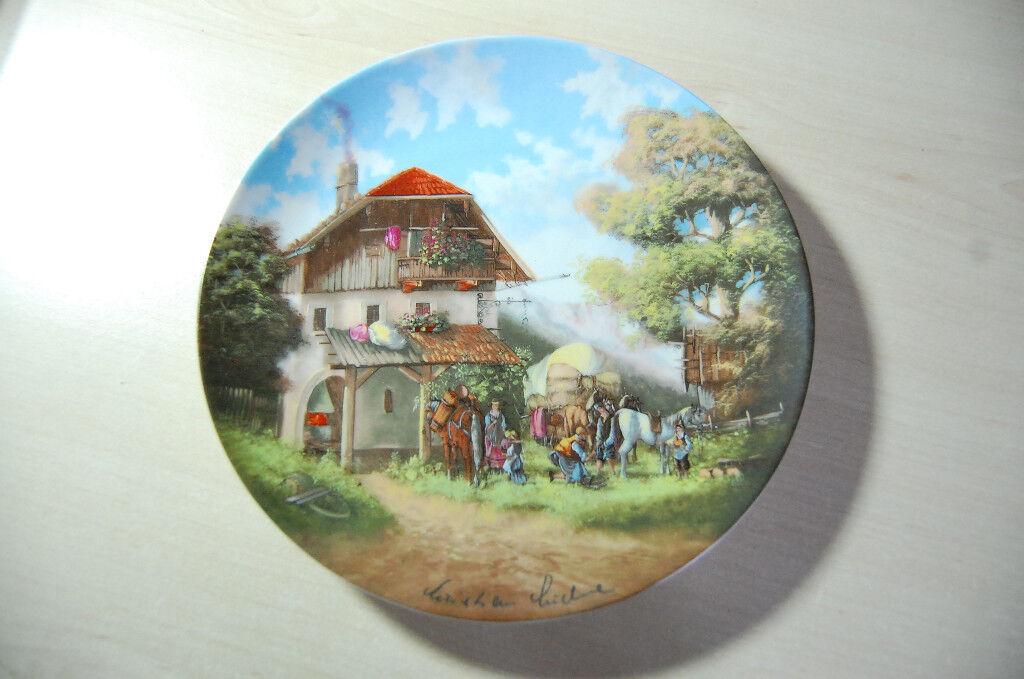Porcelain plate 'The Blacksmith' by Christian Luckel, from the Christian Seltmann Porzellan factory
