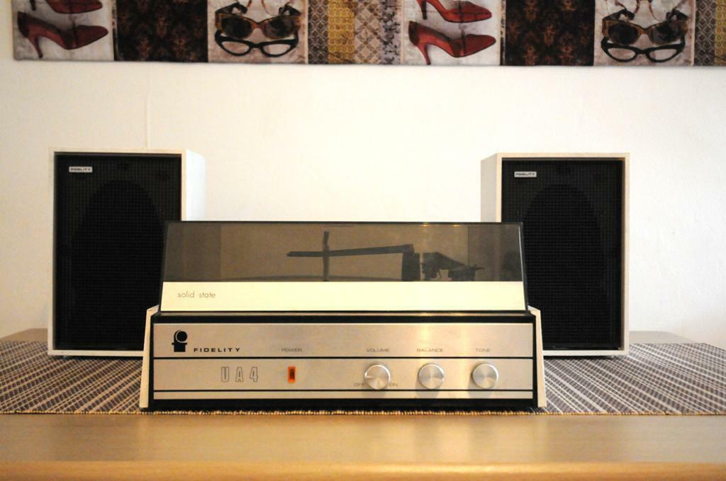 Fidelity Ua4 Vintage Record Players Stereo 1970 In Perfect