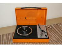 1970 VINTAGE PHILIPS TRANSISTOR PORTABLE RECORD PLAYER MAINS OPERATED