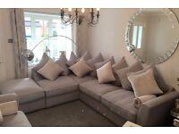 Corner sofa and 3 seater sofa- Furniture village in grey