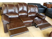 Diego Large Recliner Leather Sofa - Chocolate Can Deliver