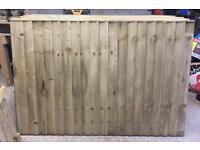 Wooden Wayneylap/ Bow Top/ Straight Top High Quality Tanalised Garden Fence Panels🌲