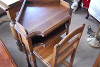 Oak Telephone Table with Chair