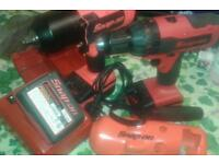 Snap on 18v battery gun and drill