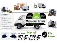 MAN AND VAN - REMOVALS, DELIVERIES AND COLLECTION SERVICES AND GARDENS