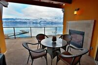 Contemporary, Large Furnished Lakefront Condo with Views