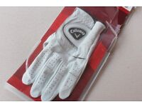 Callaway Golf Glove, Cabretta Leather - Left Handed Glove for Right Handed Golfer