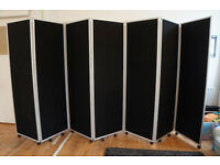 Mobile Folding Room Divider - 7 panel 1800mm high