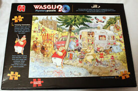 Wasgij Mystery Camping Commotion 1000 Piece Jigsaw Puzzle.CAN BE POSTED.