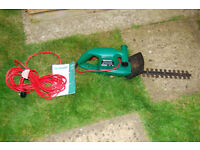 Qualcast 380 Hedge Trimmer,, dual action blades, low-vibration belt drive, operating instructions.