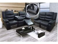 **SALE NOW ON LEATHER RECLINER SOFAS FREE DELIVERY**