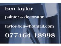 Experienced Painter & Decorator available for work. Friendly and conscientious service.