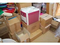 Wholesale stock of 2000+ new luxury plain gift bags, rope handles, various sizes & colours.
