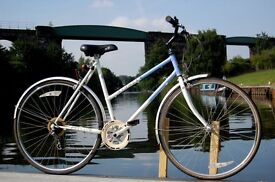 Raleigh Pioneer Classic Ladies Dutch Hybrid Bike 54cm Steel Frame Step Through 700c