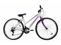 "New Falcon Modena Womens Hybrid Bike 17"" Road Light Weight RRP £229"