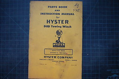 Hyster D8d Dozer Tractor Towing Winch Parts Book Operation Manual Cat Owner Book