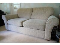 Stunning M&S 3 piece suite: 3 seater sofa, armchair, footstool. Excellent condition must be seen.