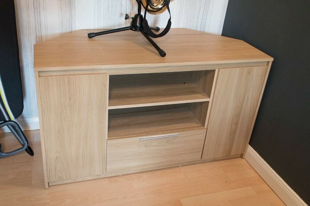 Coffee Table with 2 small units, TV Corner Unit with drawer and side cabinets