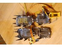 Grivel G12. Crampons 12 point with anti-balling plates. Very good condition