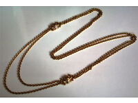 heavy gold plated gemstone chain