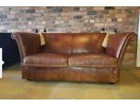 Laura ashley leather langham knoll sofa