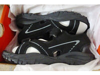 Men's Black Slazenger Wave Sandals – Boxed – Brand New – Size: UK7 EU41