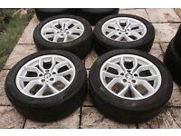 """Genuine 18"""" BMW style 308 alloys 5x120 X3 X5 other bmw fits T5 transporter BARGAIN!!!"""