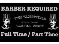 EXPERIENCED BARBER REQUIRED URGENTLY !! FULL OR PART TIME