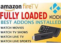 Amazon Fire Stick With Kodi Fully Loaded ✔️Sports ✔️Movies ✔️TV ✔️Kids