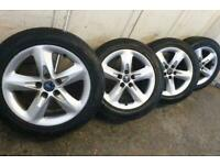 """16"""" ford titanium alloy wheels and nokian tyres 6mm connect focus mond"""