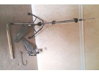 Pearl Bass Drum Pedal and Hi-Hat Pedal/Stand + New Drum Sticks + Pearl Drum Key