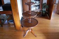 Mahogany 3 Tiered Round Table