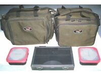 2 x TOTAL FISHING GEAR CARRYALLS OF DIFFERENT SIZES
