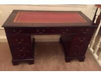 Beautiful Antique Style Executive Desk