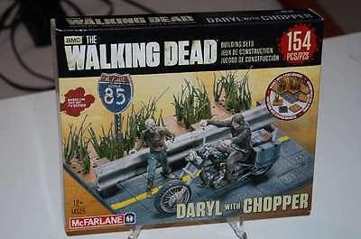 THE WALKING DEAD BUILDING SET DARYL DIXON CHOPPER NEU & OVP