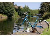 "Classic Mens Raleigh Traveller 3 Speed Dynamo+ Lights Road Bike 23"" Steel Frame Fixie Single Speed"