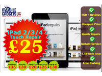 Best and Cheapest iPad & Tablet Repair Service in Birmingham Whilst you wait iPad 2 3 4 Air Mini Tab